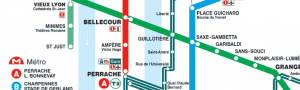 plan du métro de lyon
