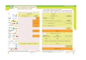 La double page Carnet de Santé sur la diversification alimentaire
