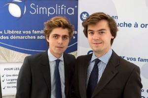 Les deux fondateurs de Simplifia, Baptiste Dhaussy (à gauche) et Maxime Nory (à droite).