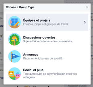 Creation de groupe Facebook at Work