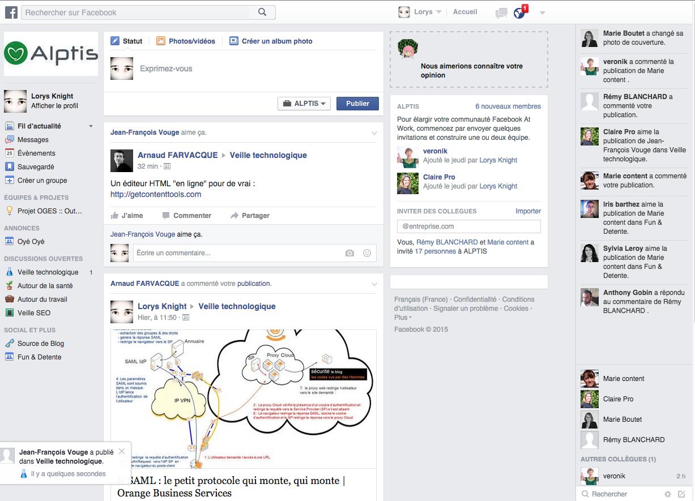 Nous avons test facebook at work - Cabinet de courtage en assurance recrute ...